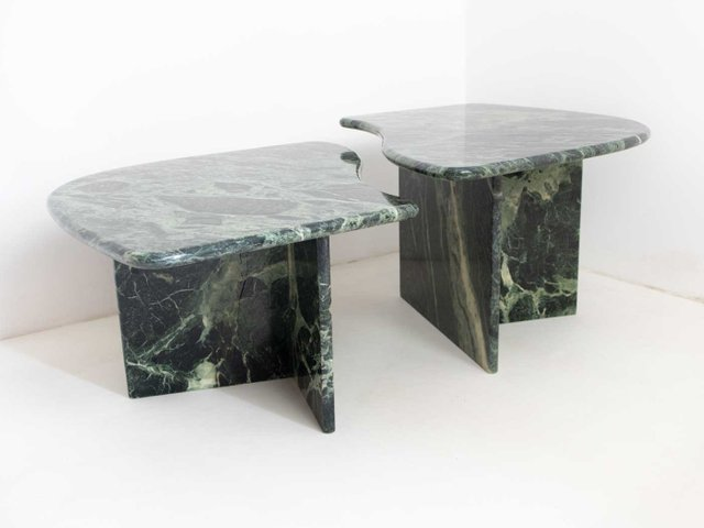 Vintage Marble Coffee Tables Set Of 2 For Sale At Pamono
