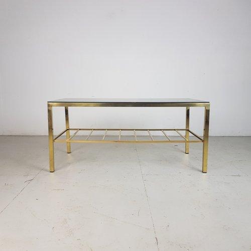 Beau Vintage Brass U0026 Glass Coffee Table, 1950s