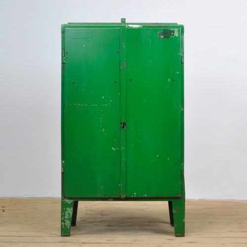 Charmant Industrial Iron Cabinet, 1960s