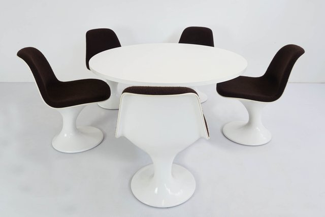 Fantastic Space Age Mushroom Dining Table 5 Chairs Set 1960S Creativecarmelina Interior Chair Design Creativecarmelinacom