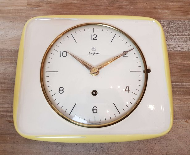 Excellent Ceramic Kitchen Wall Clock From Junghans 1950S Download Free Architecture Designs Rallybritishbridgeorg
