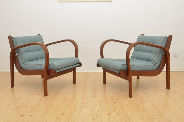 Stupendous Vintage Lounge Chairs By Kozelka Kropacek For Interier Praha Set Of 2 Pdpeps Interior Chair Design Pdpepsorg