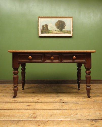 Antique Victorian Pine Harvest Table