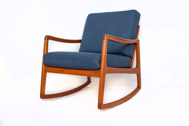 Enjoyable Fd120 Teak Rocking Chair By Ole Wanscher For France Son 1960S Gmtry Best Dining Table And Chair Ideas Images Gmtryco