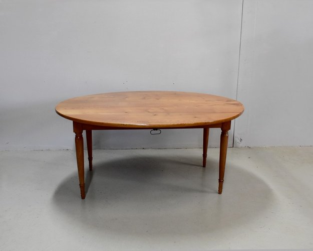 Large Antique Oval Extendable Blonde Ash Extendable Dining Table For Sale At Pamono