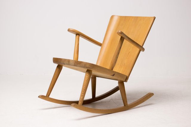 Remarkable Scandinavian Pinewood Rocking Chair By Goran Malmvall For Svensk Fur 1950S Onthecornerstone Fun Painted Chair Ideas Images Onthecornerstoneorg