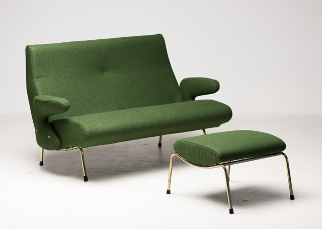 Sensational Delfino Sofa And Ottoman By Erberto Carboni For Arflex 1950S Set Of 2 Dailytribune Chair Design For Home Dailytribuneorg