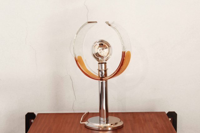 Murano Glass Table Lamp By Carlo Nason For Mazzega 1970s For Sale At Pamono