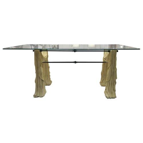 Tavoli In Pietra E Cristallo.Tavolo Da Pranzo In Pietra E Vetro Anni 70 In Vendita Su Pamono
