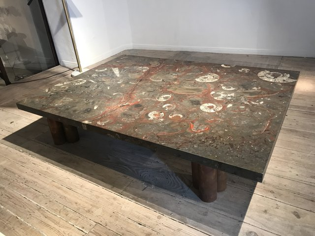 Large Vintage Stone Coffee Table For