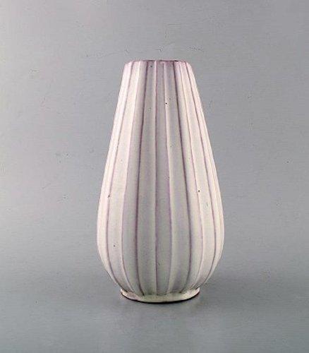 Glasierte Keramikvase von Upsala Ekeby, 1950er