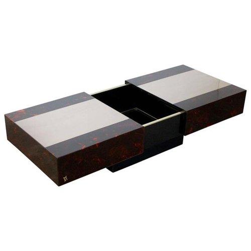Table Basse Vintage Avec Range Bouteille Par Mahey Maville En Vente Sur Pamono