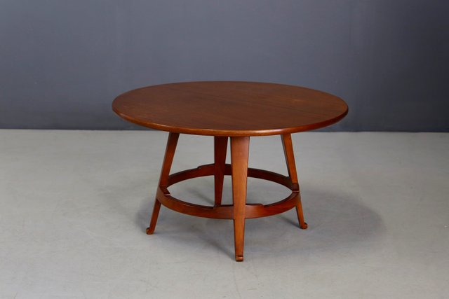 Mid Century Hardwood Coffee Table By Guglielmo Ulrich 1940s For Sale At Pamono