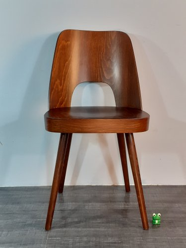 Mid Century Walnut Model 515 Dining Chairs by Oswald Haerdtl