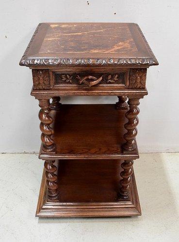 Louis Xiii Style Light Oak Side Table