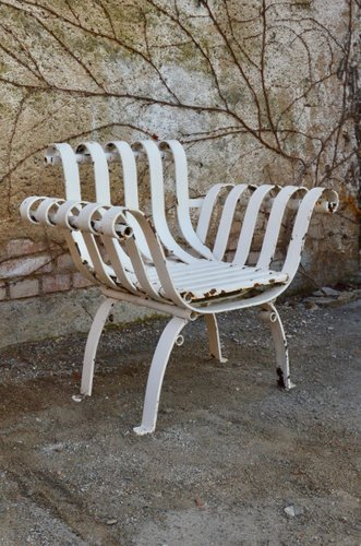 Antique Wrought Iron Garden Chairs Set, White Wrought Iron Garden Furniture