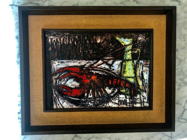 Glass Painting by Bernard Buffet, 1950s