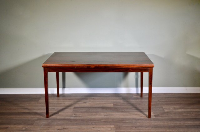 Mid Century Danish Rosewood Extendable Dining Table From Clausen Søn For Sale At Pamono