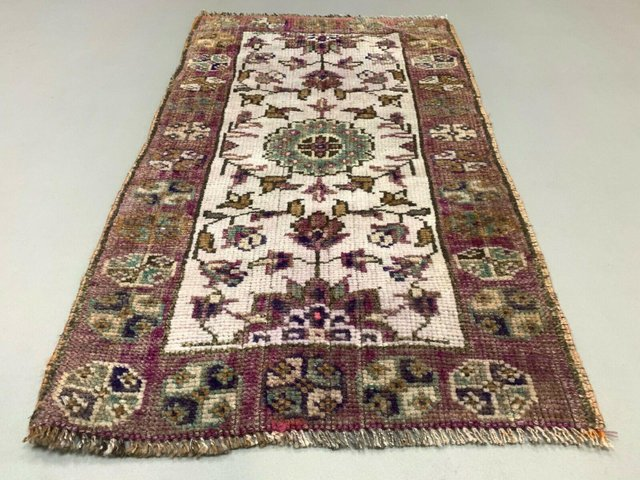 Small Vintage Turkish Short Tribal Runner Rug For Sale At Pamono
