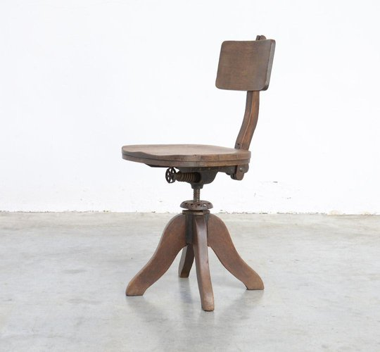 Antique Wooden Desk Chair For Sale At Pamono