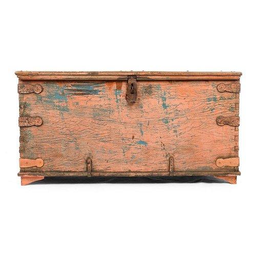 Antique Wooden Chest Bei Pamono Kaufen