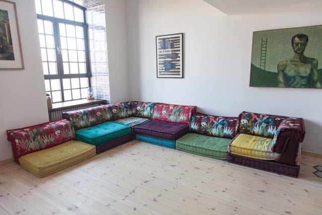 French Mah Jong Modular Sofas By Hans, Roche Bois Furniture