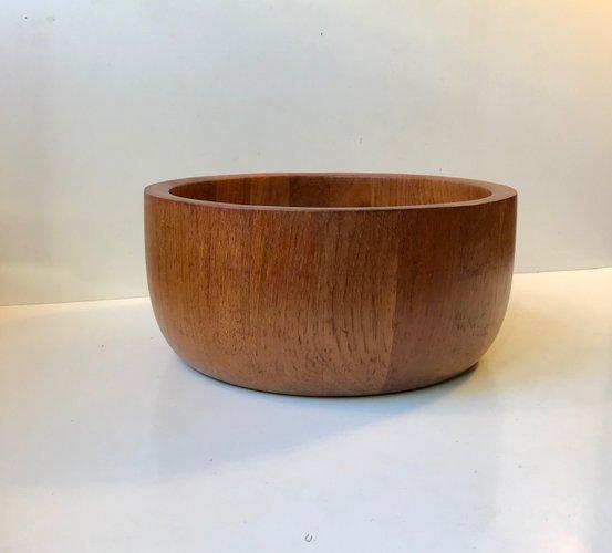 Large Mid Century Danish Teak Bowl By Richard Nissen For Nissen 1960s For Sale At Pamono