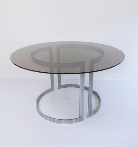 Tavolo da pranzo in vetro di Boris Tabacoff per Roche ...
