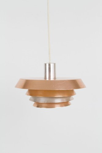 Vintage Rose Gold Pendant Lamp 1970s For Sale At Pamono