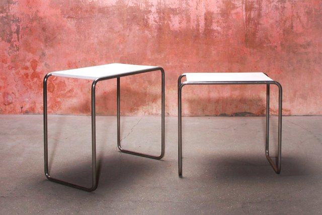 Vintage Bauhaus Model B9 Side Tables By Marcel Breuer For Tecta Set Of 2 For Sale At Pamono
