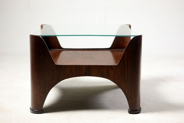 Mid Century Modern Square Glass Top Hardwood End Table Brazil 1960s For Sale At Pamono
