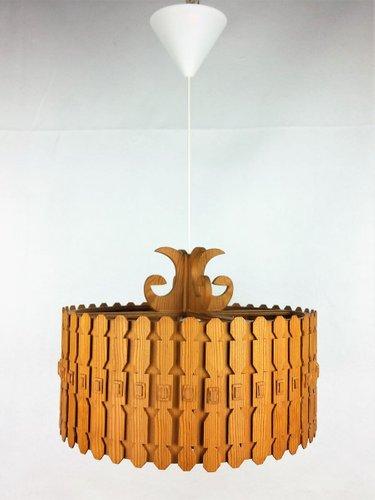 1960s Brushed Steel Scandi designed Pendant lampshade