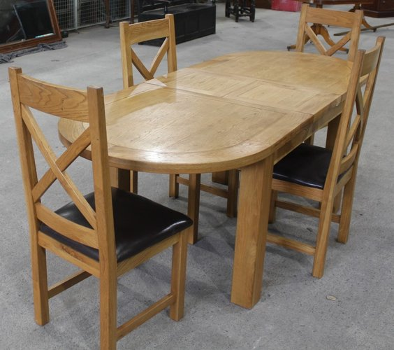 Solid Golden Oak Dining Table Chairs, Dining Room Table And Chairs