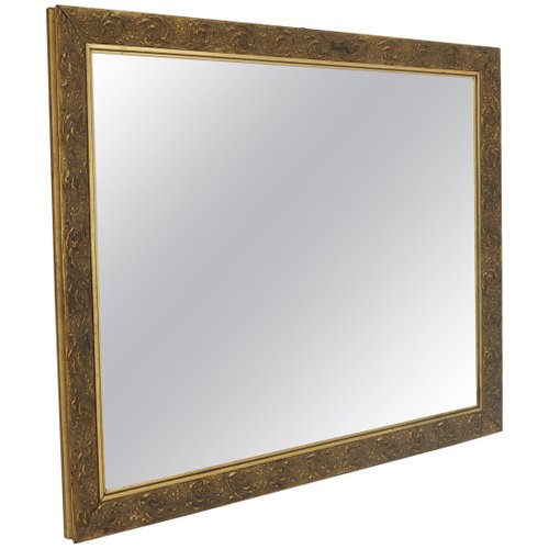 Antique Mirror With Wood Frame For, Antique Wooden Frame Mirror