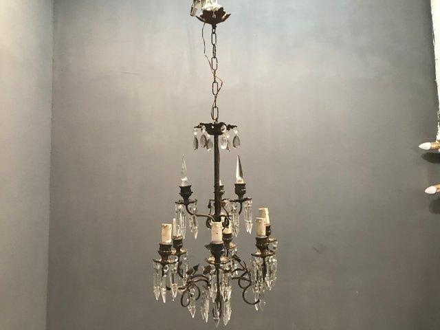 Vintage Lighting 1920s chandelier exquisite