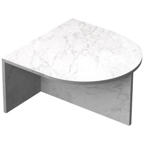 White Marble Fifty Oblong Coffee Table Sebastian Scherer For Sale At Pamono