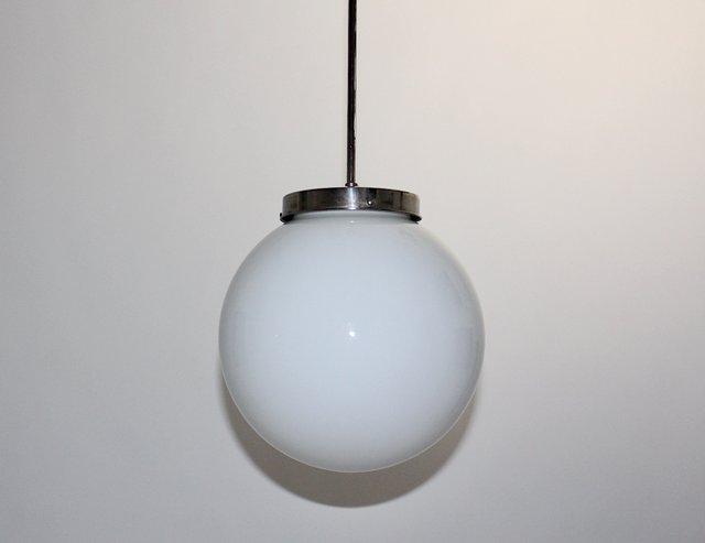 glass lamp Germany pendant light Bauhaus lamp midmodern glass ball hanging lamp Vintage ball lamp Bega
