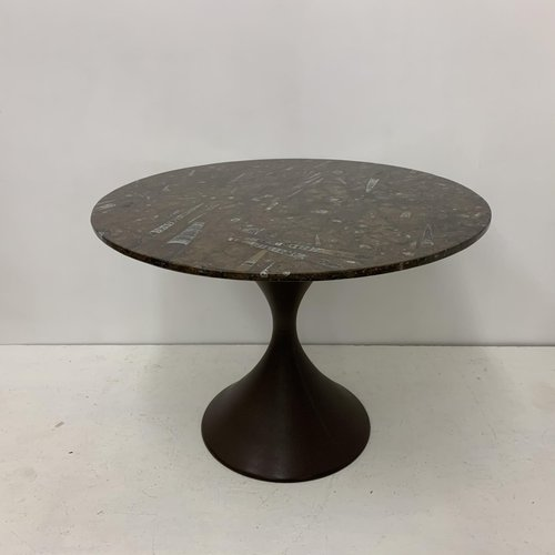 Diabolo Dining Table With Fossils Stone Top 1970s For Sale At Pamono