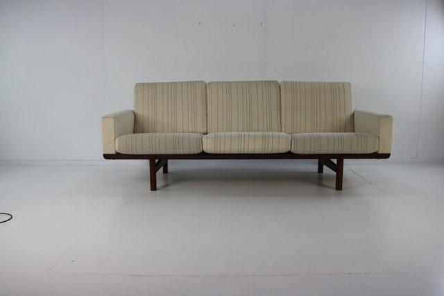 Danish Teak 3 Seater Sofa By Hans J Wegner For Getama 1962 For Sale At Pamono