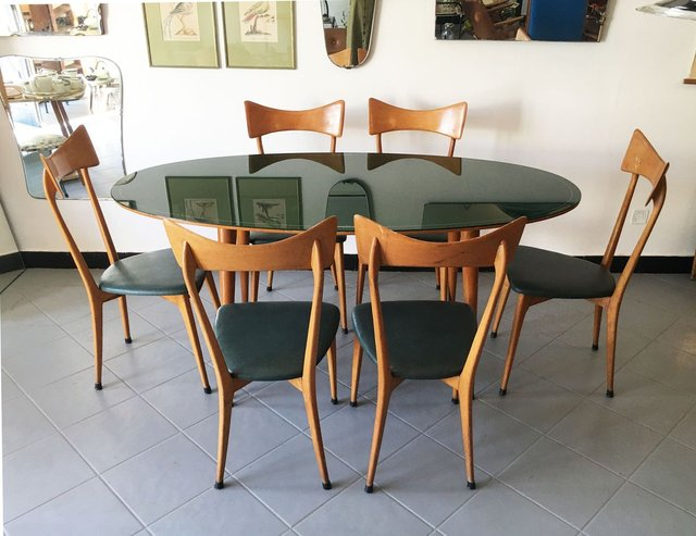 Mid Century Dining Table Chairs Set, Dining Room Chair Sets
