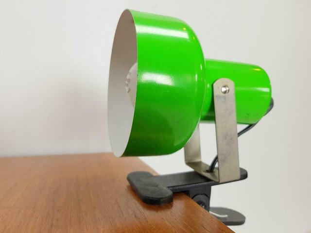 Vintage Green Metal Spot Clamp Desk Lamp 1960s For Sale At Pamono