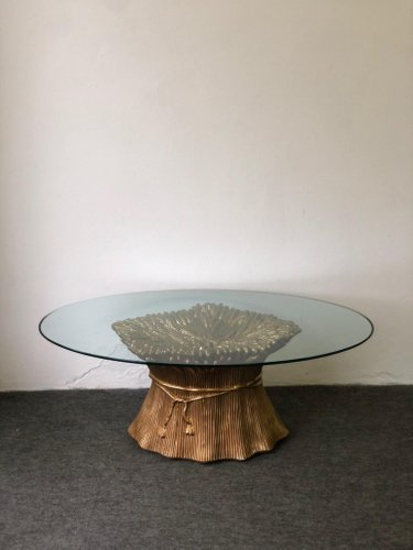 Gold Marble Coffee Table 1970s For Sale At Pamono