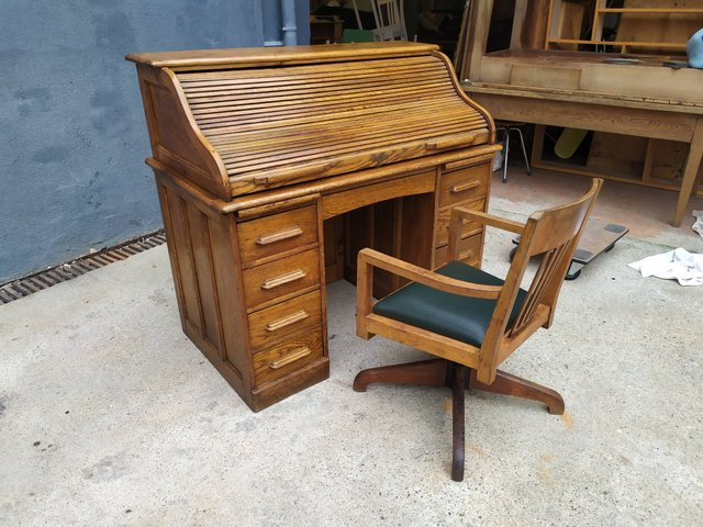 American Office Desk Chair 1920s Set Of 2 For Sale At Pamono