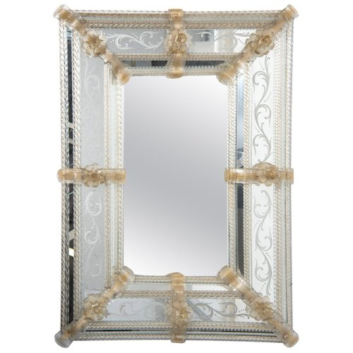 Vintage Murano Glass Mirror For Sale At Pamono