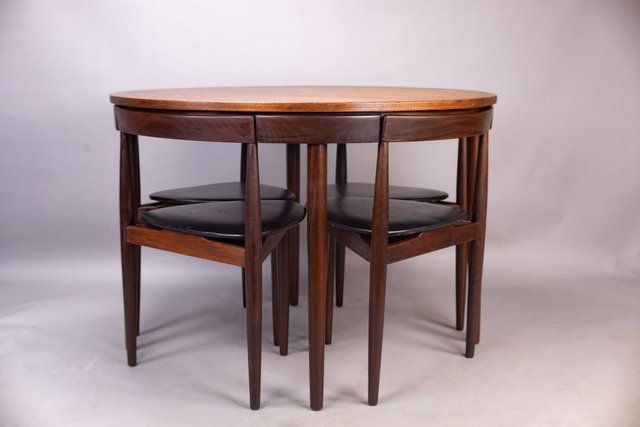 Office Cabin Interior Design, Roundette Dining Table Chairs Set By Hans Olsen For Frem Rojle 1950s Set Of 5 For Sale At Pamono