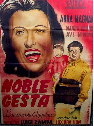 Póster enmarcado de la película Noble Gesta con Anna Magnani, 1974 ...