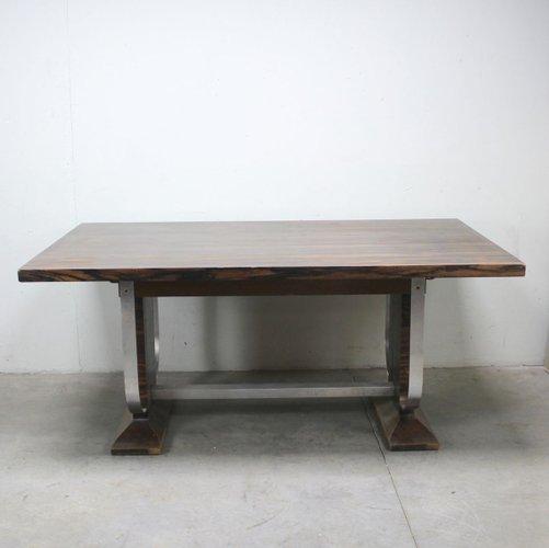 French Art Deco Table In Macassar Ebony, American Trails Art Deco Writing Desk