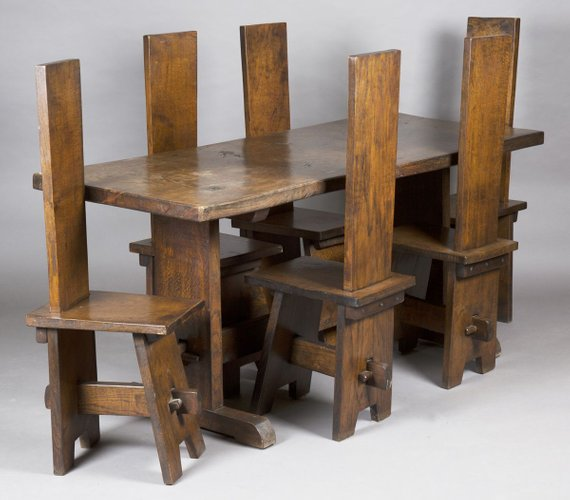 Arts Crafts Oak Refectory Table, Arts And Crafts Furniture Style