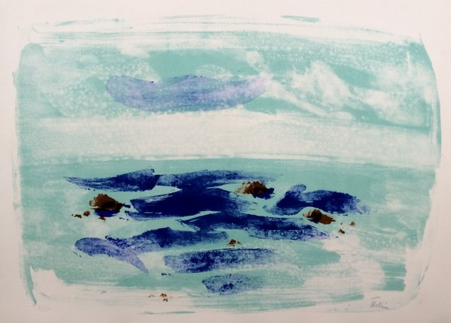 Jean Hélion After Force Of The Sea Iv 1965 Original Signed Lithograph For Sale At Pamono