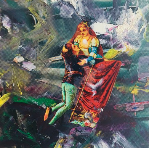 Hastaire Romeo And Juliet Xxiii 2009 Mixed Media On Canvas En Vente Sur Pamono